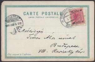 Postcard from Constantinople to Budapest (Hungary), Képeslap Konstantinápolyból Budapestre
