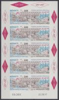 1997 MONACO nemzetközi bélyegkiállítás vágott kisív Mi 2333 B - 2334 B
