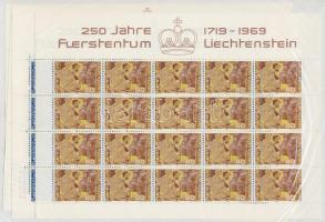 250th anniversary of Liechtenstein minisheet set, 250 éves Liechtenstein kisívsor