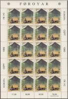 1990 Europa CEPT Postai intézmények kisív sor Mi 198-199