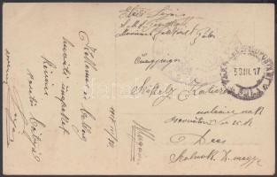1917 Képeslap / Postcard S.M.S. TEGETHOFF