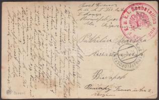 1915 Képeslap / Postcard K.u.k I Seebataillon 1. Kompagnie + MFP POLA