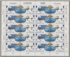 1988 Europa CEPT Szállítási és hírközlési eszközök kisív sor Mi 417-420