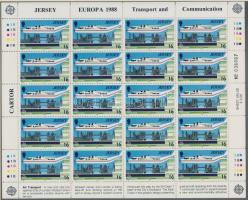 1988 Europa CEPT Szállítási és hírközlési eszközök kisív sor Mi 435-438