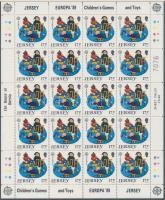1989 Europa CEPT Gyerekjátékok kisív sor Mi 476-479