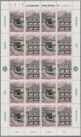 1987 Europa CEPT Modern építészet kisív sor Mi 389-392