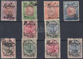 1911 Helyi kiadás Relais sor + 2 hamisítvány Mi VI a-k