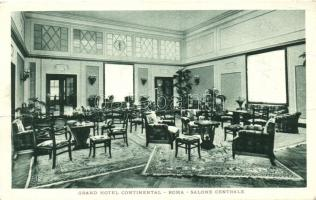 Rome, Roma; Grand Hotel Continental, central hall