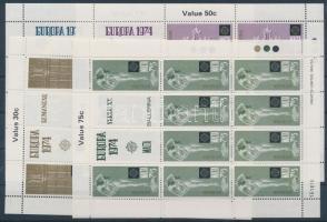 1974 Europa CEPT Szobrászat kisív sor Mi 493-496