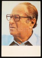 Bruno Kreisky volt osztrák kancellár nyomtatott aláírása fotón / Printed autograph of former Austrian Chancellor Bruno Kreisky, on photo
