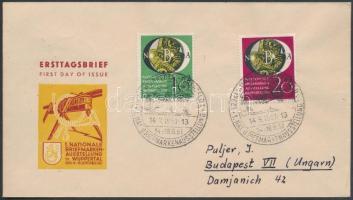 1951 NBA bélyegkiállítás FDC Budapestre / Mi 141-142 FDC to Hungary