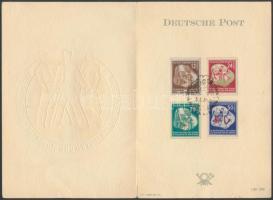 1951 VIT emléklap teljes sorral / Mi 289-292 Souvenir Card