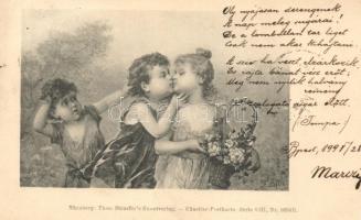 1899 Theo Stroefer Künstler-Postkarte Serie VIII. Nr. 5634 B, Gyerekszerelem, 1899 Theo Stroefer Künstler-Postkarte Serie VIII. Nr. 5634 B