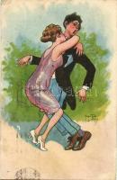 Couple humour s: Arthur Thiele (pinhole), Szerelmes pár humor s: Arthur Thiele (lyuk)