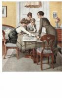 Kriegspostkarten von B. Wennerberg Nr. 6. Strategie / German WWI propaganda s: Wennerberg, Német I. világháborús propaganda, Kriegspostkarten von B. Wennerberg Nr. 6. s: Wennerberg