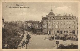 Bitterfeld, Lindenstrasse, Hotel Kaiserhof, Reinhold Jacob / street, hotel