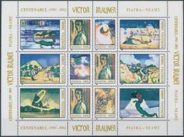 Victor Brauner paintings full sheet, Victor Brauner festményei teljes ív