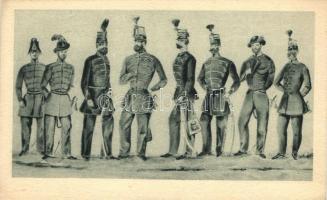 Hungarian soldiers, Magyar hadseregképek, törzstisztek, 'Negyvennyolc' sorozat I.