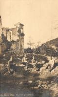 Vízzel telt gránáttölcsér, Kiss László főhdgy., WWI K.u.K. military, Hungarian soldiers