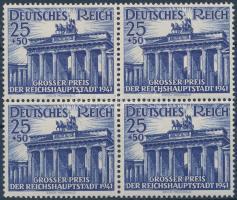 1941 Lóverseny: Reichshauotstadt Nagydíj négyestömb Mi 803