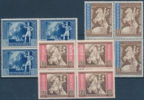 1942 Tengelyhatalmak Posta kongresszusa sor négyestömbökben Mi 820-822