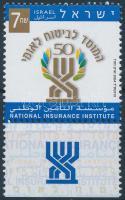 National Insurance Institution stamp with tab, Nemzeti biztosító intézet tabos bélyeg