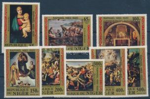 1983 500 éve született Raffaello sor Mi 835-842 (836 festékhiba)