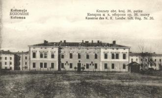 Kolomyja, Kolomea; Koszary obr. kraj. 36. putku / Kaserne des K. K. Landw. Inft. Reg. Nr. 36. / military barracks