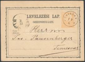1871 Díjjegyes levezőlap KÖNIGSGNAD