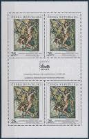 BRNO international stamp exhibition, paintings mini sheet, BRNO nemzetközi bélyegkiállítás, festmények kisív