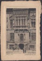 Wroclaw, Breslau; Schweidnitzer Keller, etching layout s: Card Jander