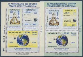 2007 50 éves az űrutazás 2 blokk (a sorszám gépszínátnyomatával) Mi 92-93