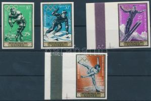 Winter Olympics imperforated set, Téli olimpia vágott sor
