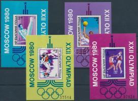 1979 Nyári Olimpia, Moszkva blokk sor Mi 93, 96, 98, 99