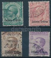 1908 Mi 33-34 + 36-37