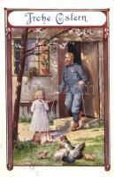Easter, military card, Katonai húsvéti üdvözlőlap