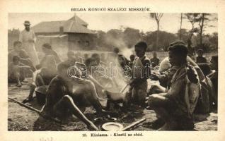 Congo folklore from Kiniama, cooking, Kiniama, készül az ebéd, kongói folklore