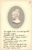 Lady bust, Meissner & Buch Serie 1055. Wedgewood litho, Női mellszobor, Meissner & Buch Serie 1055. Wedgewood litho