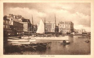 Naples, Napoli; S. Lucia port, ships