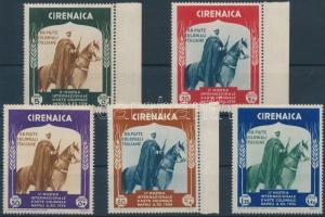 1934 Gyarmati kiállítás 5 érték Mi 115 + 117-120