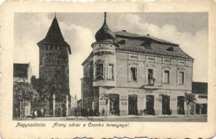 Salonta, tower, shops, Nagyszalonta, Arany udvar, Csonka torony, Wessely és Bíró kereskedése