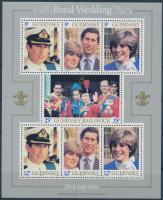 1981 Károly herceg és Diana esküvője blokk Mi 3