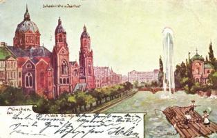 München, Lukaskirche, Isarlust, Ritzer