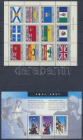 CAPEX International Stamp Exhibition, Flags, Basketball Centenary full sheet + 2 diff. blocks (3 stock cards), CAPEX nemzetközi bélyegkiállítás, zászlók, 100 éves a kosárlabda teljes ív + 2 klf blokk(3 stecklap)
