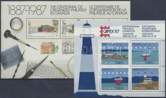 CAPEX International Stamp Exhibition 2 diff. blocks, CAPEX nemzetközi bélyegkiállítás 2 klf blokk