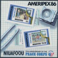 Stamp Exhibition AMERIPEX '86 block, Bélyegkiállítás AMERIPEX '86 blokk