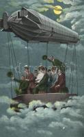 Airship, cheerful folks, Léghajó, vidám emberek
