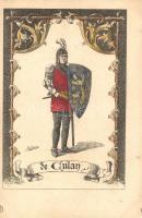 de Aulan / French mediaeval soldier from Aulan s: Driesten, Francia középkori katona s: Driesten