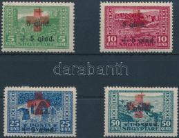 Definitive set with overprint, Forgalmi sor felülnyomással