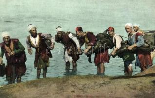 Le Caire, porteurs d'eau / Cairo, water carriers, folklore, Kairó, vízhordók, folklór